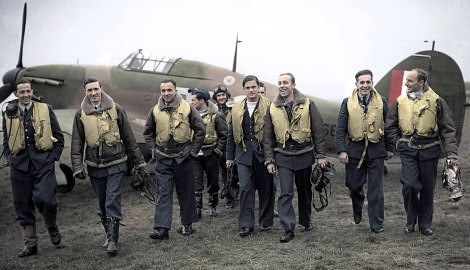 Pilots of 303 Squadron (a Polish unit) in 1940