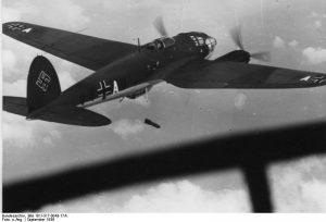 Heinkel He 111 bombing Poland in 1939
