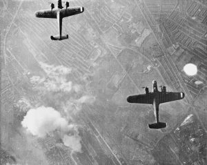 Dornier Do17 bombers over London, September 1940