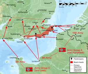 Battle plans of Operation Sealion, Hitler's plans for the invasion of mainland Britain