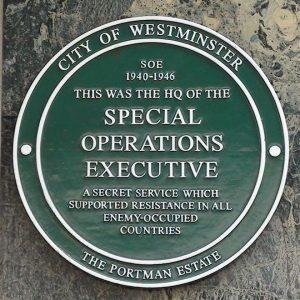 SOE plaque