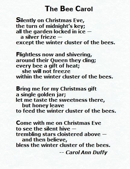 Carol Ann Duffy - Bee Carol 2