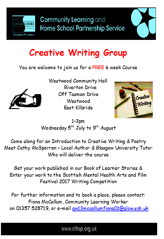 112 Creative writing courses in Glasgow