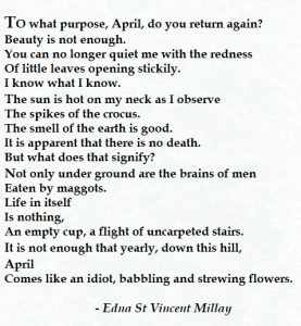 Edna St Vincent Millay - Spring cropped