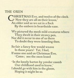 Oxen - Thomas Hardy (2)